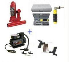 Shop or Gift Air Compressor Puncture Kit 2 Ton Bottle Jack Multipurpose Toolkit Online.