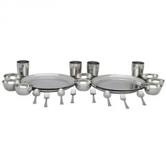 INDMART 24 PCs Stainless Steel Premium Dinner Set