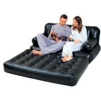 Air Sofa Bed Comfort Quest Inflatable Black 5 IN  1 with Electric Air Pump