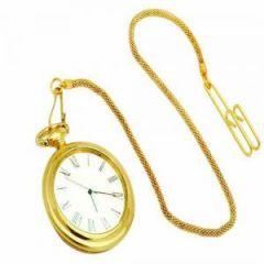 Desk Accessories - Desktop Clocks-gold Plated Pocket Watch - 299