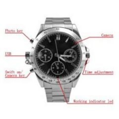 Shop or Gift Spy Wrist Watch Camera  8 GB Micro SD Card Online.