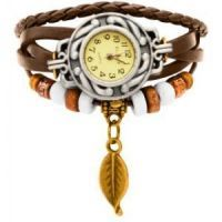 New Vintage Style Leather Bracelet Watch For Women 267