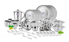 Airan Diamond Stainless Steel 62-piece Dinner Set-(product Code-air1024)