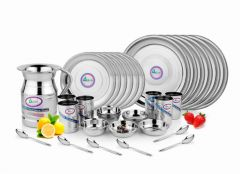 Airan Khana Khazana Stainless Steel 31-piece Dinner Set-(product Code-air1048)