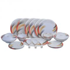 Dinner sets - Czar Dine Smart Bold 32 PCs Melamine Dinner Set 202