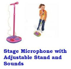 Stage Microphone With Adjustable Stand And Sounds Best Toy For Kids