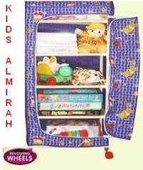 Folding Cloth Almirah With Wheels For Kids Room