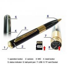 Security Cameras - USB Spy Pen Camera - Expandable Upto 16GB