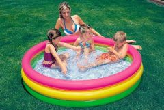 Inflatable Toys - Intex Children's Inflatable Pool Inflatable Bottom