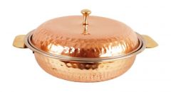 Stainless Steel Copper Royal Donga Casserole For Serving Indian Dishes