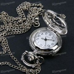 antique silver pocket watch for men woman gift unisex pocket watch - Nightmare Before Christmas Watch Online