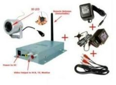 Worlds Smallest Wireless 30 LED Cctv Camera With Power Adapter & AV Cable