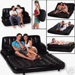 Living Room Furniture - Air Bed Sofa Cum Bed Mattress With Powerful Pump
