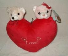 TEDDY AND HEART SOFT STUFFED TOY
