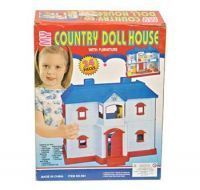 Kids 24 Piece Country Doll House With Accessories