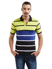 Fitz Polyester Cotton T-Shirt For Mens (Code - A17TS7028EFLGRN)