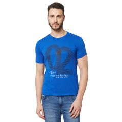 Fitz Navy Blue Round Neck T-Shirt For Mens (Code - A18TS7014RB)