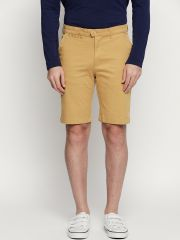 Fitz Brown Cotton Shorts For Mens