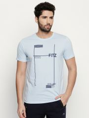 Fitz Blue Round Neck T-Shirt For Mens (Code - S18TS7085LBL)