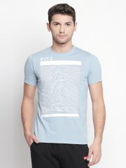 Fitz Blue Round Neck T-Shirt For Mens( Code - S18TS7089DKBU)