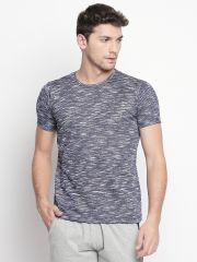 Fitz Blue Round Neck T-Shirt For Mens( Code - S18TS7091BU)