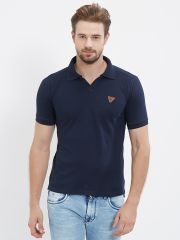 Fitz  Navy Blue Polo T-Shirt For Mens (Code - S18TS7092NV)