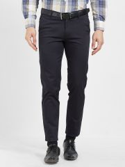 Solemio Cotton Lycra Navy Blue Chinos For Mens  (Code - S19CH1003ENV)