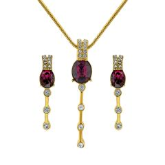 Sri Jagdamba Pearls Drop Pendant Set Code 8113