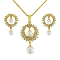 Sri Jagdamba Pearls Sitara Pendant Set Code 8129 - Return Gifts