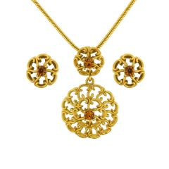 Sri Jagdamba Pearls Flower Pendant Set Code 8366