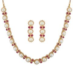 Sri Jagdamba Pearls Glamorous Necklace Set Code 8797 - Jewellery
