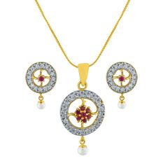 Sri Jagdamba Pearls Attractive Necklace Set  Code AD-143p