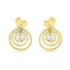 Jpearls 18kt Gold Honey Bee Diamond Earrings