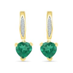 Sri Jagdamba Pearls Majestic Emerald Earrings ( Code-EO103036-LEM )