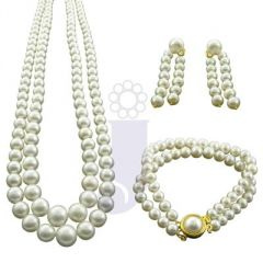 Jpearls 2 Line Graded Pearl Necklace