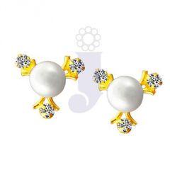 Pearl Earrings - jpearls tri pearl tops