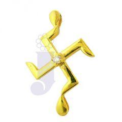 Jpearls Swastik Diamond Pendent- FOR MENS
