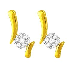 Jpearls Flower Diamond Earrings