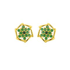 Sri Jagdamba Pearls  Green Stone Earrings JPAPL-16-041