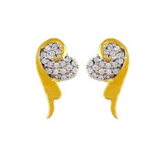 Sri Jagdamba Pearls Heart Czearrings ( Code-jpdec-17-105 ) - Valentine Gifts For Her
