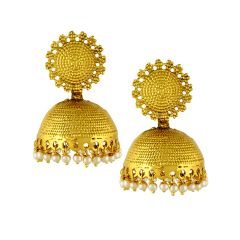 Sri Jagdamba Pearls Traditional Jhumkis ( Code-jpdec-17-117 ) - Valentine Gifts For Her