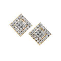 Jabra Women's Clothing - Sri Jagdamba Pearls Square Shape Cz Earrings-jpjan-17-027