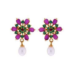 Sri Jagdamba Pearls Color Drop Earrings(Code-JPJL-17-12)