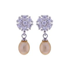 Sri Jagdamba Pearls Pink Pearls Drop Earrings(Code-JPJL-17-14)