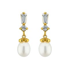 Sri Jagdamba Pearls Zaara Pearl Earrings Code Jpjun-16-215 - Return Gifts