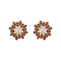 Sri Jagdamba Pearls  Amazing Grace Pearl Earrings   Code JPJUN-16-227
