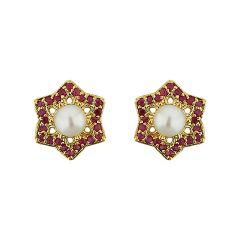 Sri Jagdamba Pearls Stary Pearl Earrings Code Jpjun-16-228 - Return Gifts
