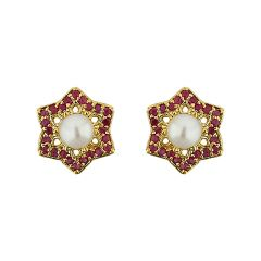 Sri Jagdamba Pearls  Stary Pearl Earrings ( JPJUN-16-228_2018 )