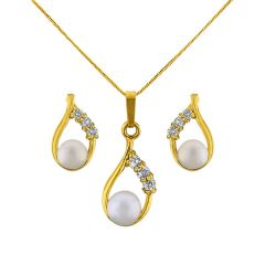 Sri Jagdamba Pearls Gorgeous Drop Pendant Set Code JPJUN-16-231