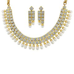 Sri Jagdamba Pearls Traditional Necklace Set Code Jpjun-16-244 - Return Gifts